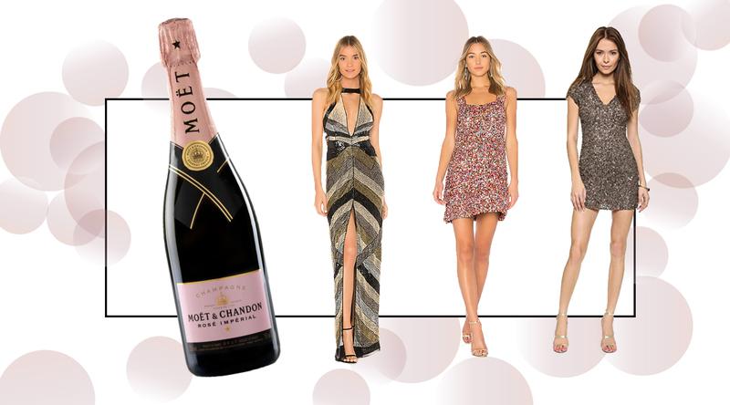 Perrier- Jouët NYE Champagne Dresses Brick and Portal