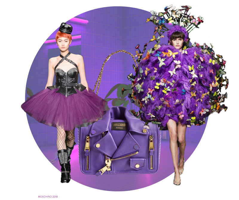 how to wear ultraviolet color of the year brickandportal moschino