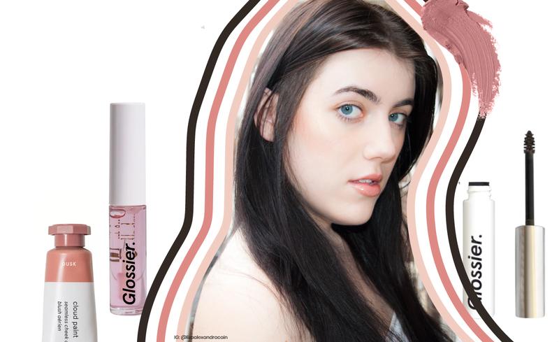 Glossier Natural Look Makeup 2018 Brick and Portal