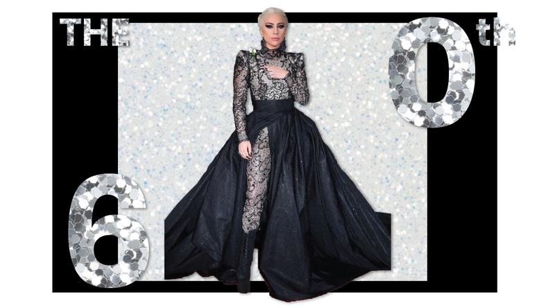 Lady Gaga Grammys 2018 Armani Brick and Portal