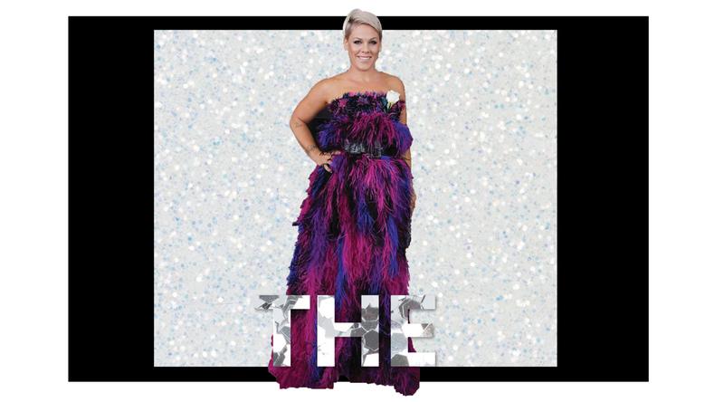 Pink Dress Grammys 2018 Brick and Portal